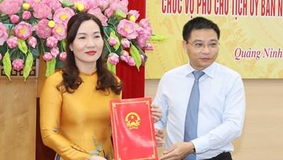 UBND tỉnh Quảng Ninh chính thức có thêm một nữ Phó Chủ tịch