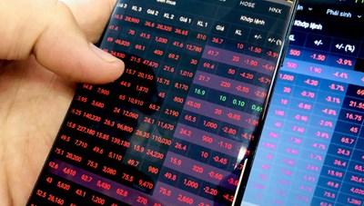 Thị trường chứng khoán ngập sắc đỏ