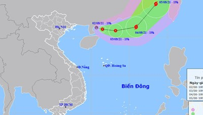 Áp thấp nhiệt đới di chuyển hướng Đông Đông Nam, có khả năng mạnh thêm