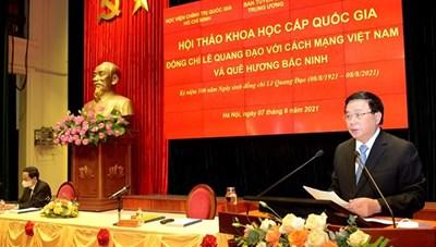 BẢN TIN MẶT TRẬN: Kỷ niệm 100 năm Ngày sinh đồng chí Lê Quang Đạo