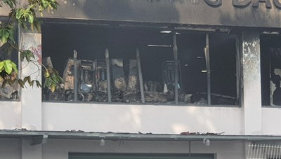 [ẢNH] Hiện trường vụ cháy kho hàng gia dụng rộng hơn 7.000 m2