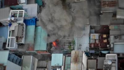 Cháy nhà ở trung tâm Sài Gòn