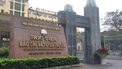 Học viện Báo chí và Tuyên truyền công bố điểm chuẩn xét theo học bạ 2020