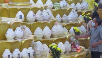 Xác định được một số hũ tro cốt ở chùa Kỳ Quang 2
