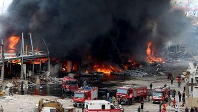 Cảng Beirut, Li Băng bốc cháy ngùn ngụt