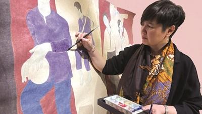 Họa sĩ Đinh Thị Thắm Poong: Người con của vùng văn hóa Tây Bắc