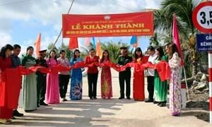 Kiên Giang: Khánh thành 3 cây cầu nông thôn