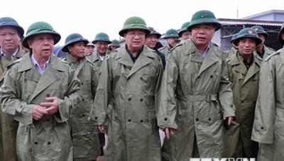 Phó Thủ tướng kiểm tra công tác chuẩn bị ứng phó với bão số 5