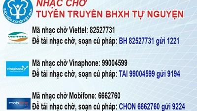 BHXH tỉnh Quảng Nam: Tuyên truyền bảo hiểm tự nguyện qua nhạc chờ điện thoại di động