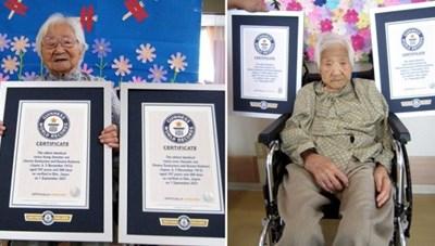 Cặp sinh đôi Nhật Bản sống thọ nhất thế giới