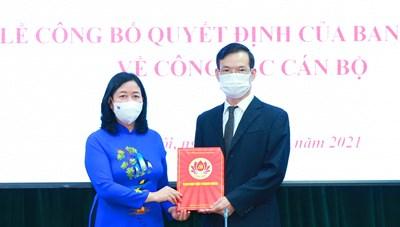Ông Triệu Tài Vinh làm Phó Trưởng ban Dân vận Trung ương