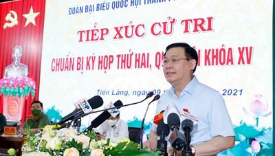 Chủ tịch Quốc hội Vương Đình Huệ: Thích ứng an toàn với dịch và phục hồi kinh tế