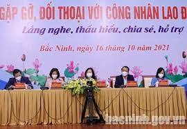 Bắc Ninh: Gặp gỡ, đối thoại, giải quyết khó khăn cho công nhân lao động