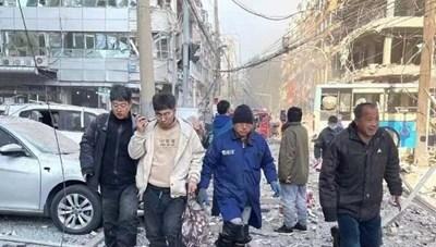 Trung Quốc: Nổ tòa nhà 7 tầng, ít nhất 34 người thương vong