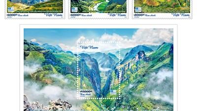 Phát hành bộ tem giới thiệu 'Công viên địa chất toàn cầu'