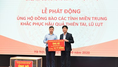 VNPT ủng hộ 10 tỷ đồng để hỗ trợ 5 tỉnh miền Trung