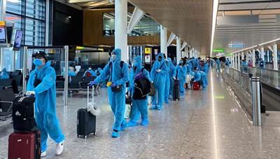 Đưa hơn 270 công dân Việt Nam từ Anh về nước an toàn