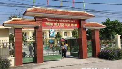 Ninh Bình: Điều tra làm rõ vụ một trẻ mầm non bị giáo viên bạo hành