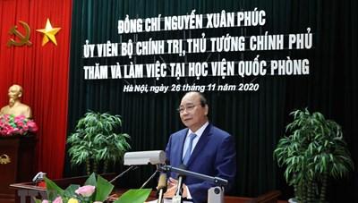 Thủ tướng làm việc với Bộ Quốc phòng