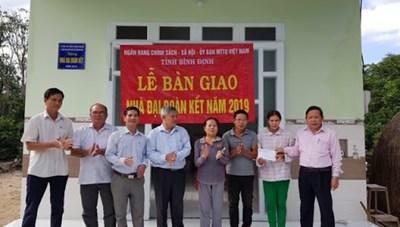 Bình Định: Xây dựng 195 nhà Đại đoàn kết cho hộ nghèo