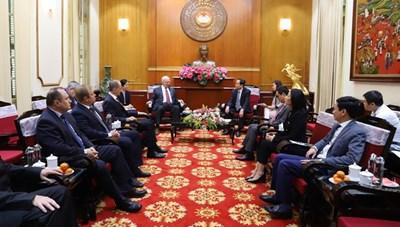 BẢN TIN MẶT TRẬN: Chủ tịch Trần Thanh Mẫn tiếp Đại sứ LB Ngatại Việt Nam