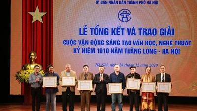 Trao giải sáng tác về 1010 năm Thăng Long - Hà Nội