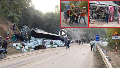 Tai nạn liên hoàn đèo Chiềng Đông , nhiều người thương vong