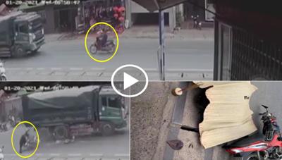 Nữ sinh bị xe ben cán tử vong khi sang đường