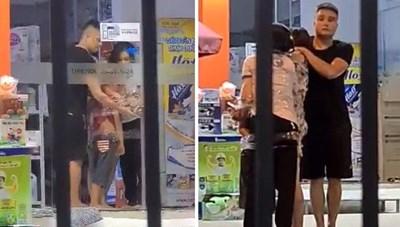 Thanh niên ngáo đá cầm dao khống chế 3 người trong cửa hàng sữa