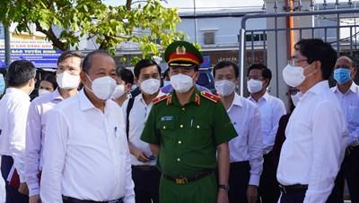 Phó Thủ tướng Trương Hòa Bình kiểm tra công tác phòng, chống dịch tại Bà Rịa - Vũng Tàu