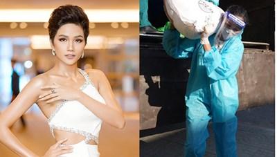 H'Hen Nie có thêm danh hiệu mới khi vác bao gạo 50 kg đi làm thiện nguyện