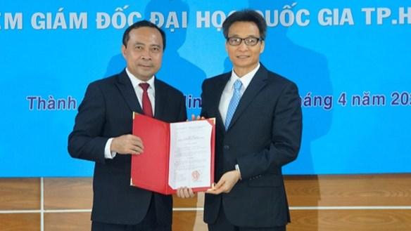 Phó Thủ tướng Vũ Đức Đam trao quyết định bổ nhiệm Giám đốc ĐHQG TP HCM
