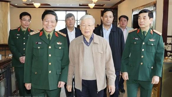 [ẢNH] Tổng Bí thư, Chủ tịch nước chủ trì Hội nghị Quân ủy Trung ương