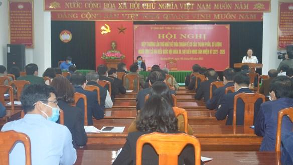Quảng Bình: Ưu tiên lĩnh vực Mặt trận và các tổ chức thành viên ứng cử đại biểu Quốc hội