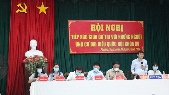 Bình Định: Người ứng cử đại biểu Quốc hội khóa XV tiếp xúc cử tri