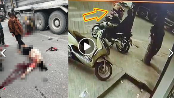 [VIDEO]: Kinh hoàng khoảnh khắc 2 phụ nữ vượt đèn đỏ tông vào xe ben