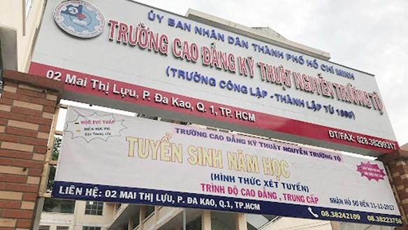 Đề nghị xử lý trách nhiệm Hiệu trưởng Trường Cao đẳng kỹ thuật Nguyễn Trường Tộ