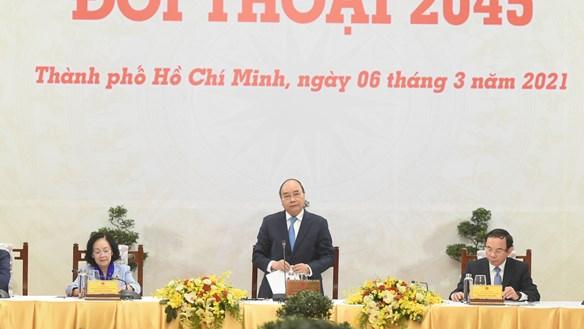 Thủ tướng Nguyễn Xuân Phúc đối thoại với đội ngũ trí thức và doanh nghiệp