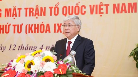 Tân Chủ tịch UBTƯ MTTQ Việt Nam Đỗ Văn Chiến: Cùng nhau xây dựng MTTQ vững mạnh