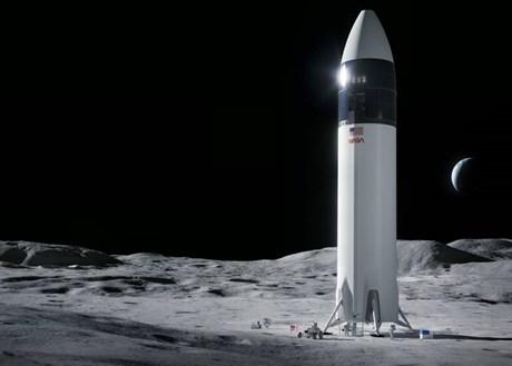 Space X giành hợp đồng phát triển tàu vũ trụ đưa người lên Mặt Trăng