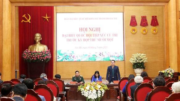 Cử tri vui mừng khi Tổng Bí thư Nguyễn Phú Trọng tiếp tục trúng cử