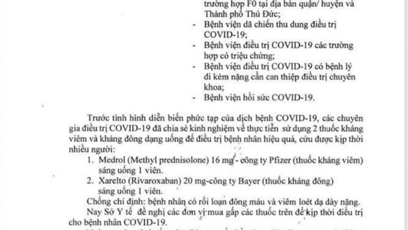 Sở Y tế TP Hồ Chí Minh thu hồi văn bản hướng dẫn mua thuốc điều trị Covid-19