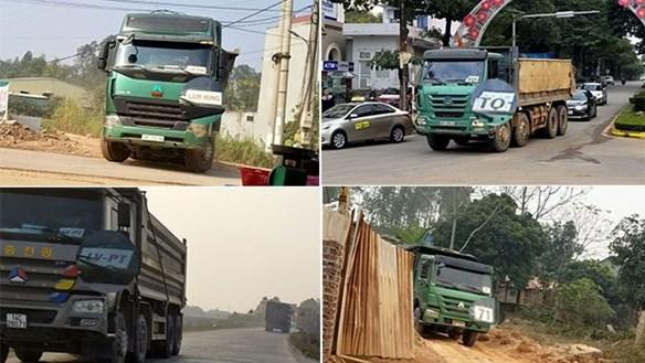 Vĩnh Phúc: 'Đất tặc' hoành hành, lộ diện đoàn xe gắn logo 'vua'