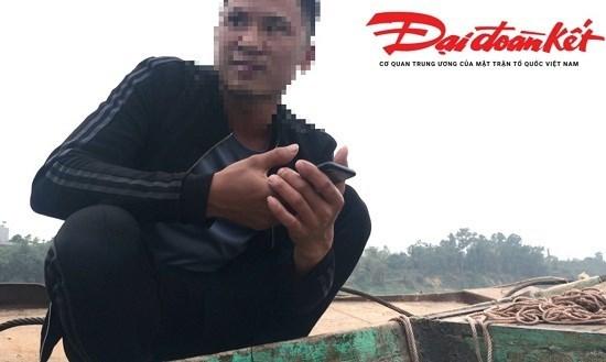 Tam Nông, Phú Thọ: Cát tặc vẫn hoạt động rầm rộ trên sông Hồng
