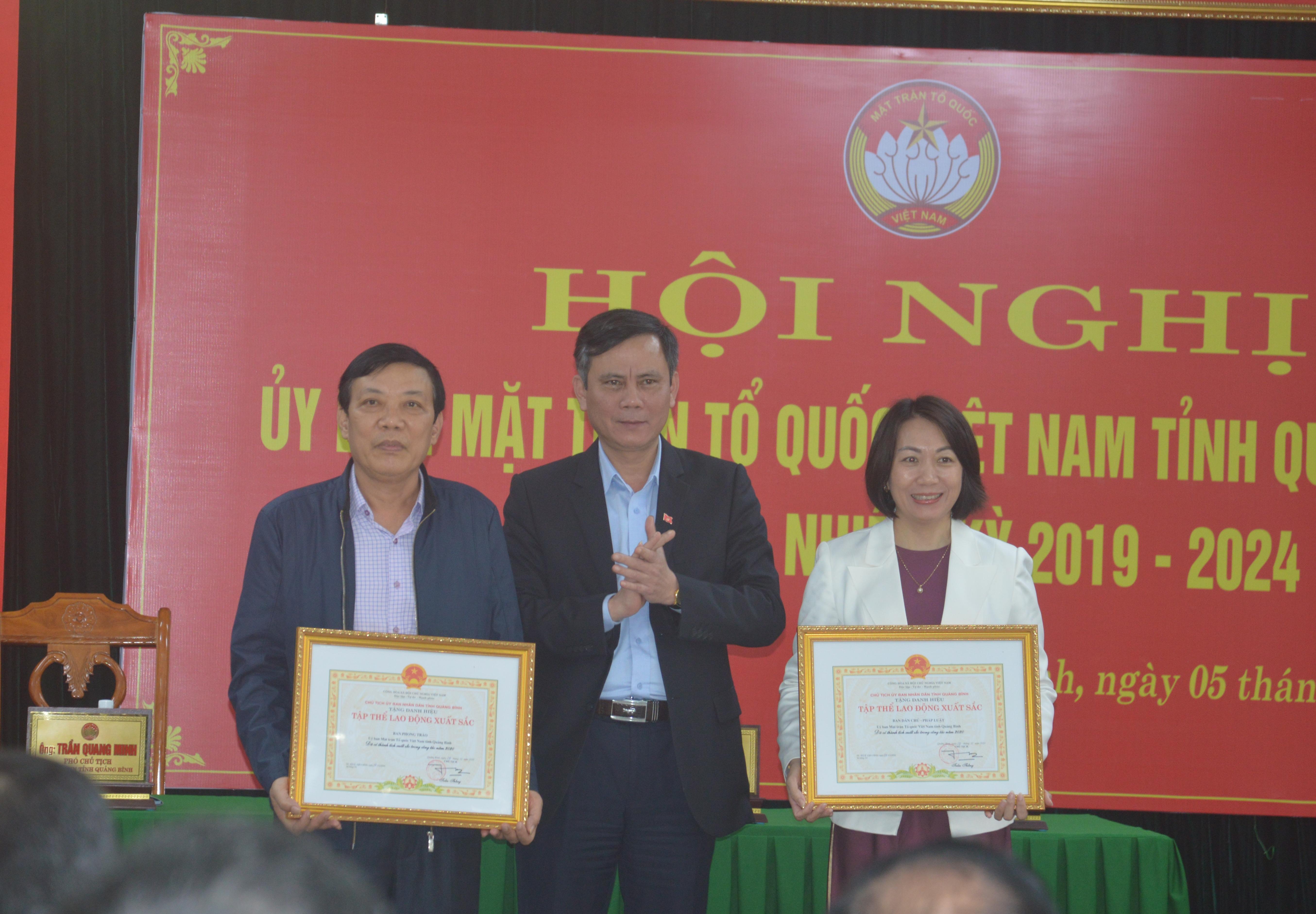 Ông Trần Thắng, Chủ tịch UBND tỉnh Quảng Bình
