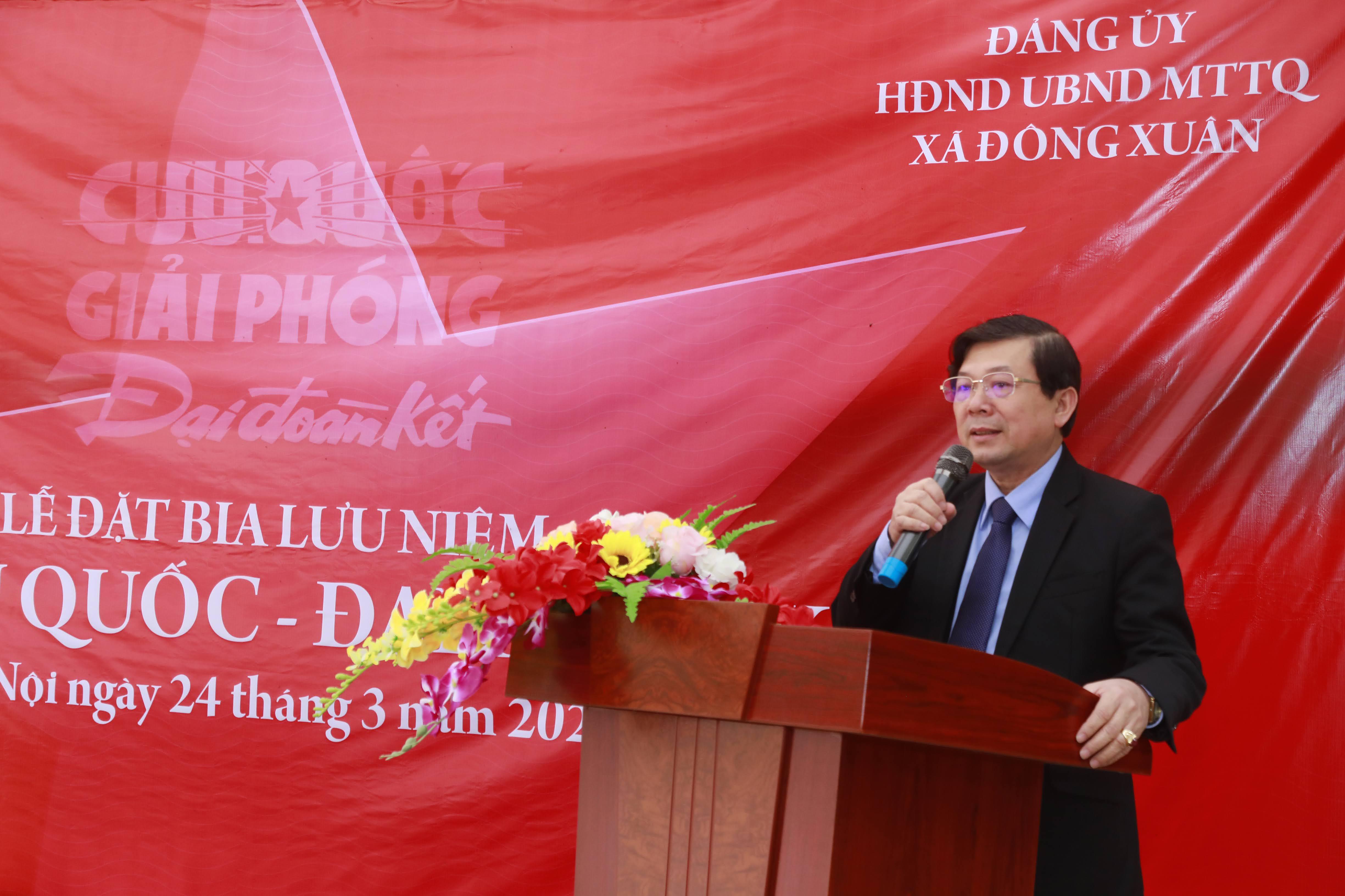 Phó Chủ tịch Nguyễn Hữu Dũng phát biểu tại buổi lễ.Ảnh: Quang Vinh.
