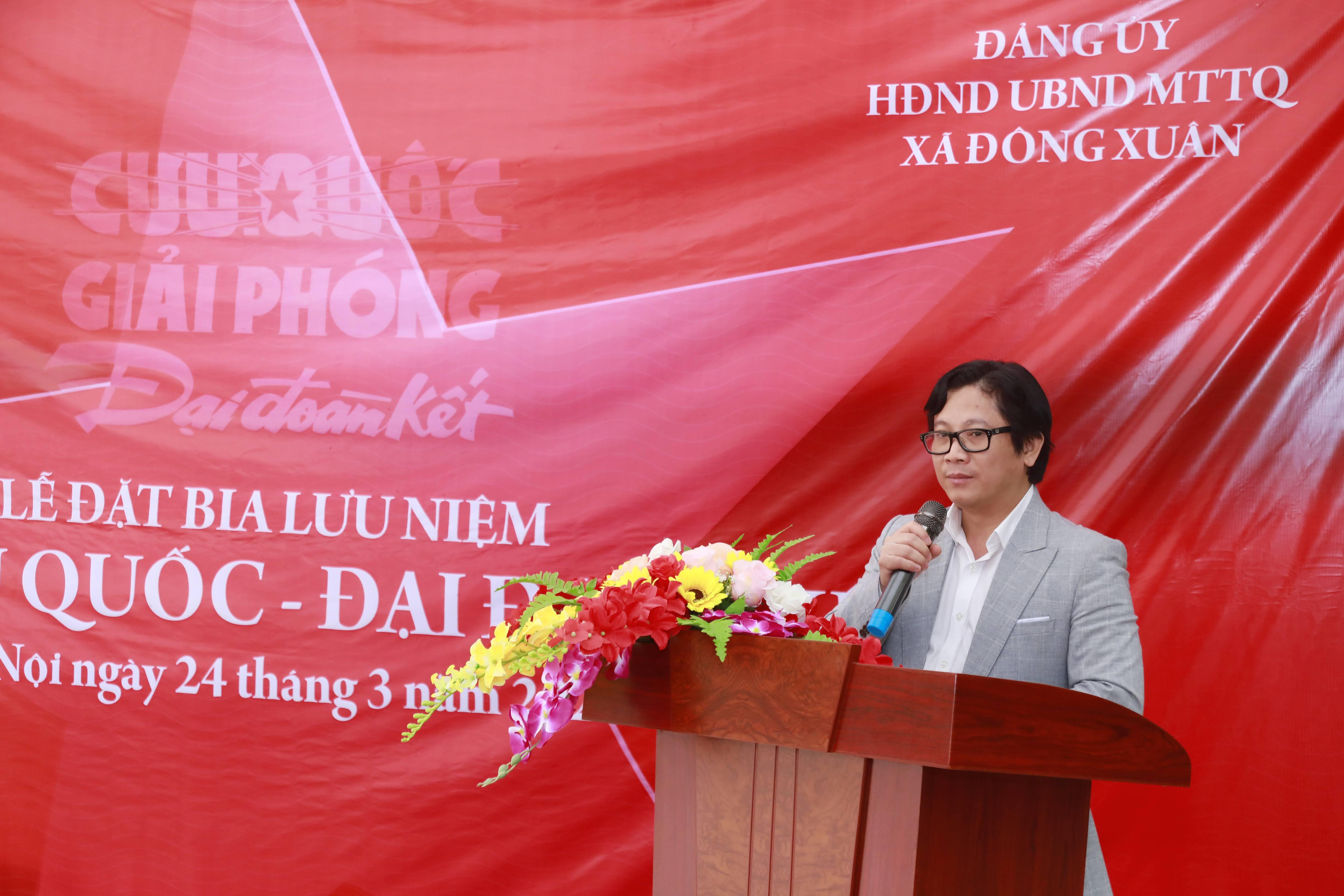 Nhà báo Lê Anh Đạt, Phó Tổng biên tập phụ trách báo Đại Đoàn Kết phát biểu tại buổi lễ.Ảnh: Quang Vinh.