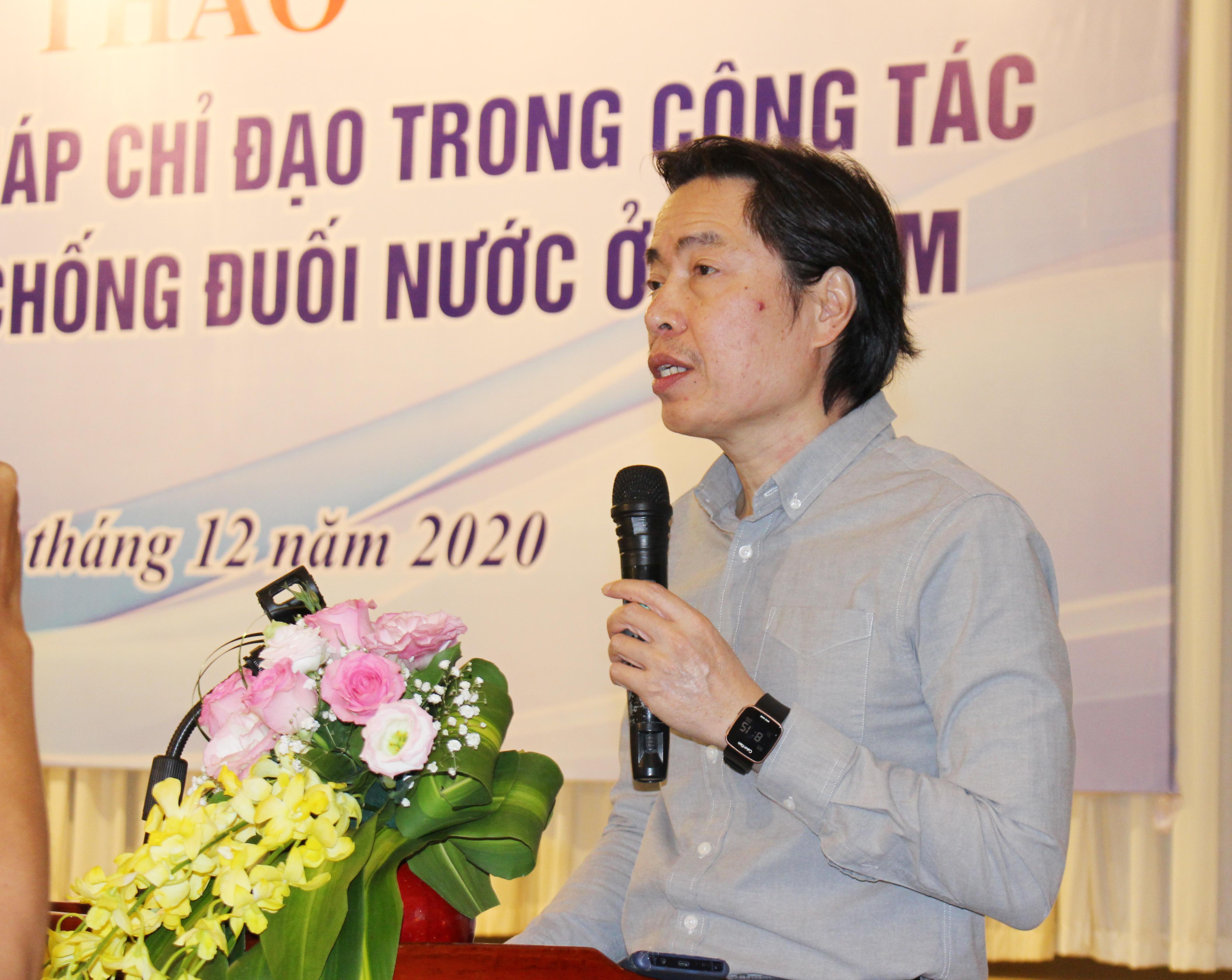 Ông Đặng Hoa Nam, Cục trưởng Cục Trẻ em Bộ LĐTB&XH phát biểu tại Hội thảo.