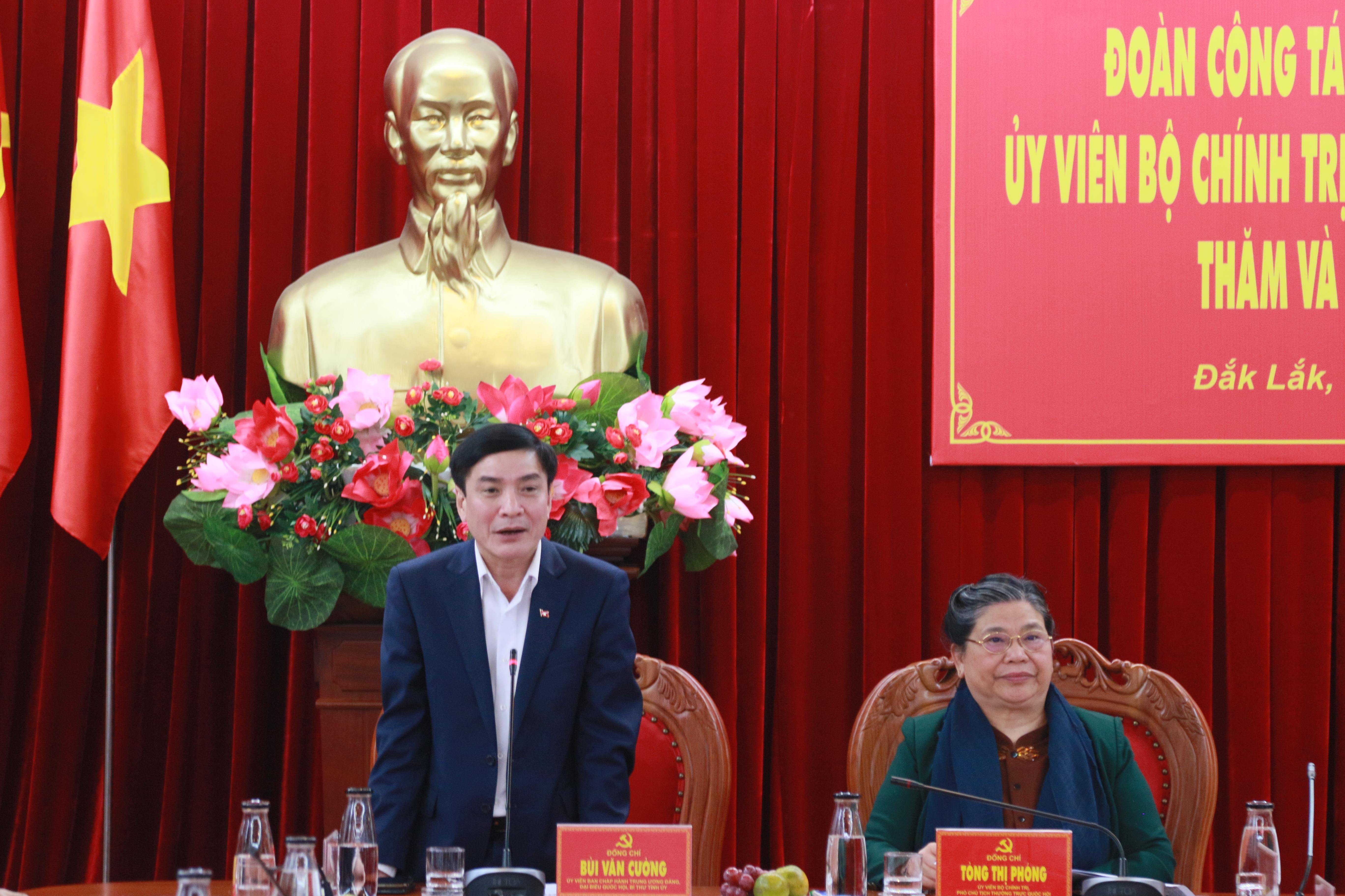 Uỷ viên Trung ương Đảng, Bí thư Tỉnh uỷ Đắk Lắk Bùi Văn Cường.