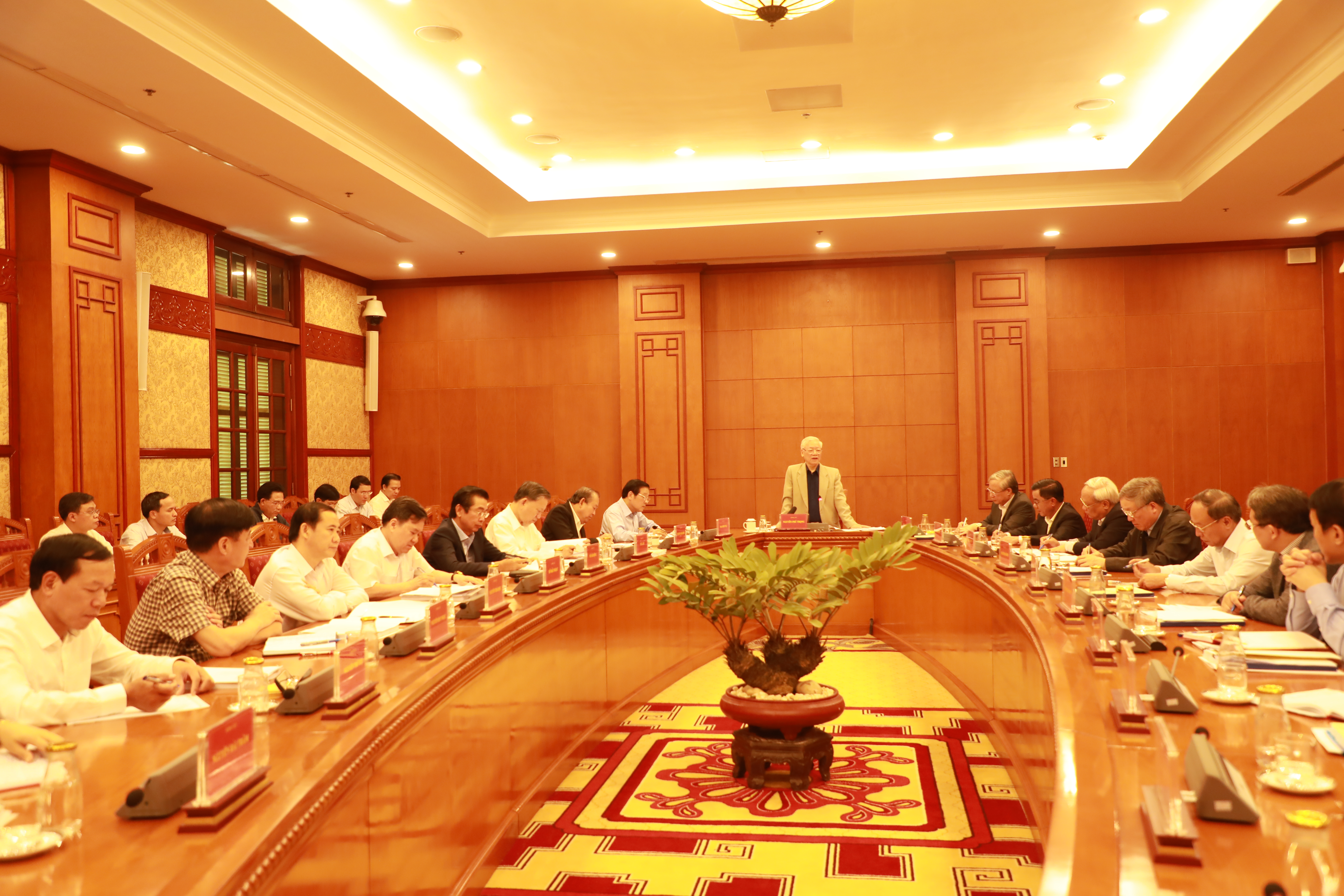 Tổng Bí thư, Chủ tịch nước Nguyễn Phú Trọng chủ trì cuộc họp.
